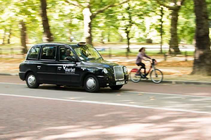 Taxi típico de Londres