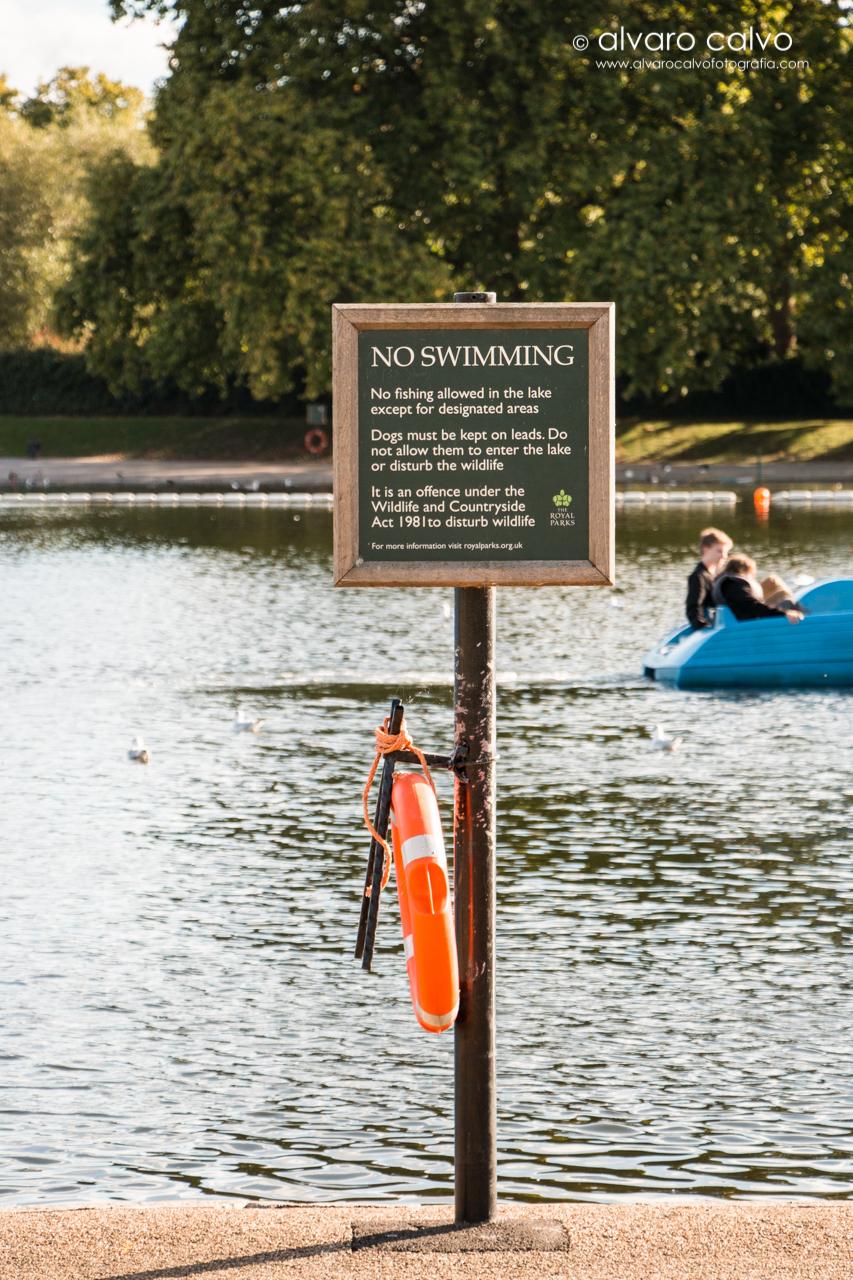 No swimming - Lago Serpentine en Londres (London)