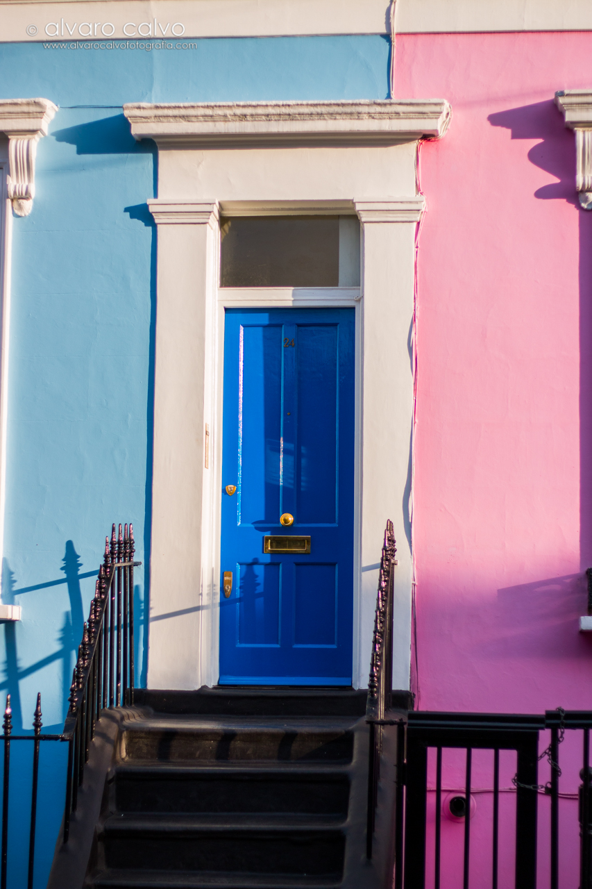 Casas en el barrio de Notting Hill