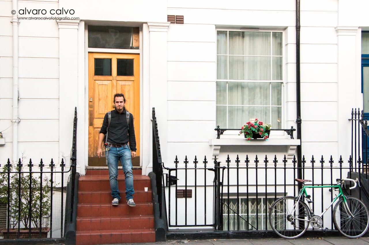 Entrada tradicional de una casa inglesa en Notting Hill
