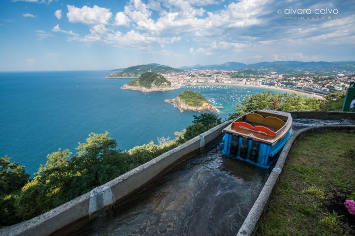 Desde Monte Igueldo de San Sebastián (País Vasco)